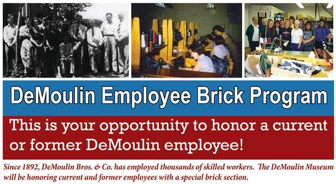 Brick Paver Program to Honor DeMoulin Employees