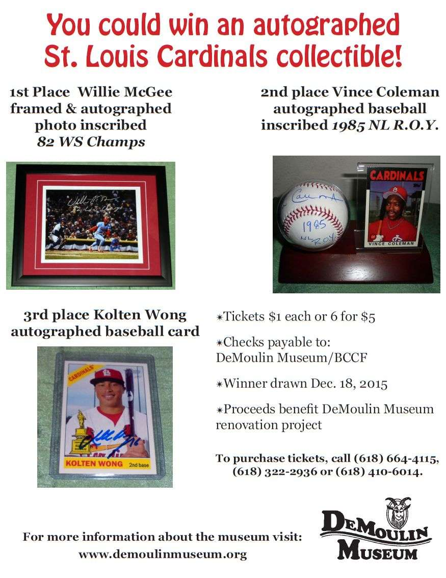 Win an autographed St Louis Cardinals collectible