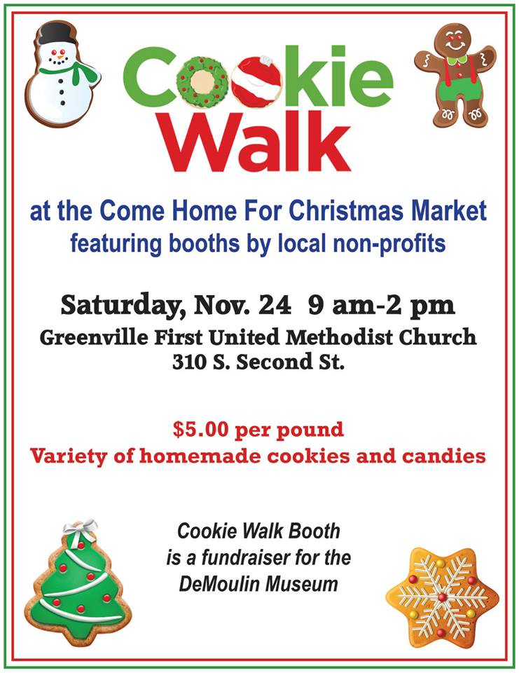 Cookie Walk booth at Come Home for Christmas Market