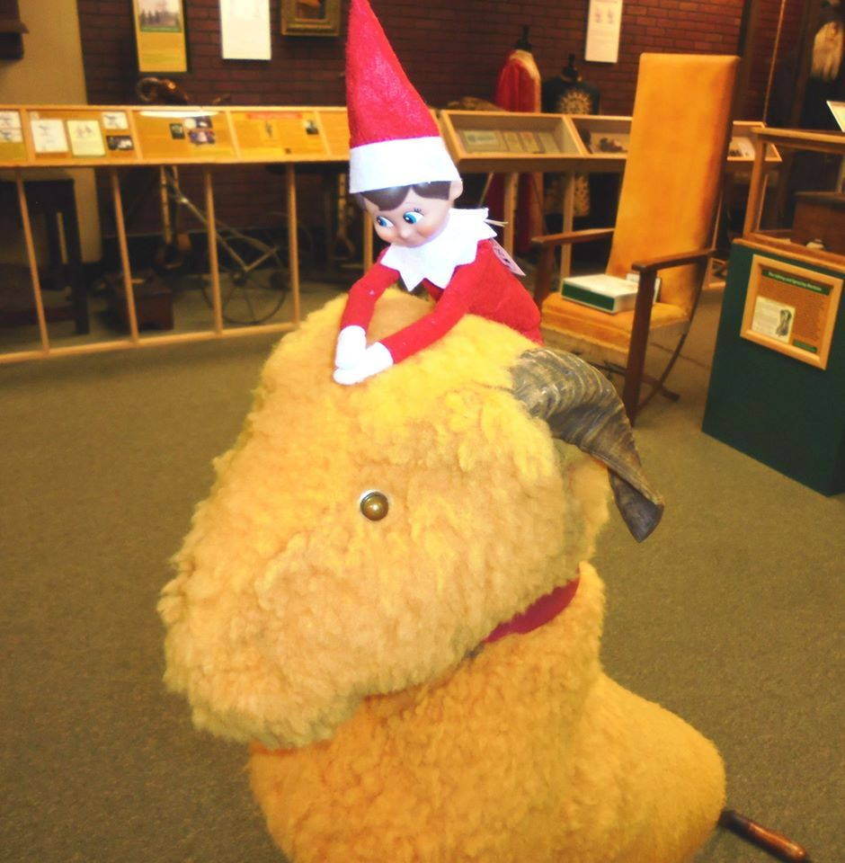 Ed the Elf rides the Goat!