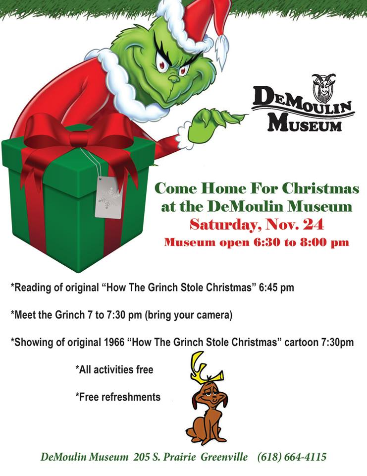 Come Home For Christmas featuring the Grinch Who Stole Christmas