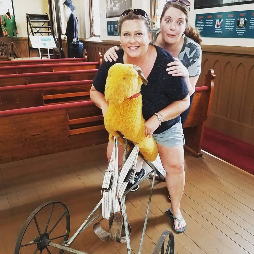 Ladies from Missouri take a Goat Ride! Tour Group May 2018