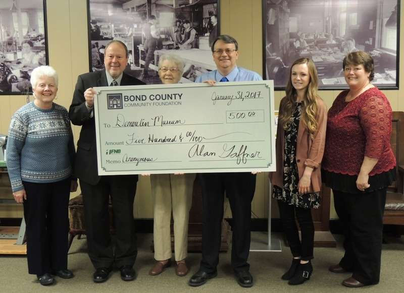 BCCF board members and Museum board members at check presentation ceremony January 31, 2017