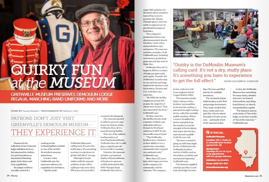 Museum featured in Illinois Partners magazine, Spring 2018
